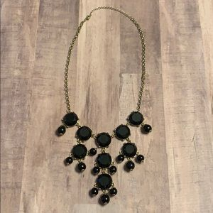 Black and Gold Tone Small Bubble Necklace